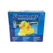 """Swimline 60"""" Inflatable Swimming Pool Giant Ducky Ride-On Floating Toy Raft"""