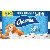 Charmin Ultra Soft Toilet Paper 36 Mega Roll, 284 sheets per roll  Toilet Tissue
