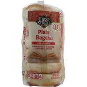 First Street Bagels, Plain, Pre-Sliced