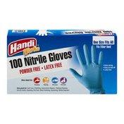 Handi-Works Nitrile Gloves Powder Free-Latex Free