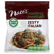 Nates Meatballs, Meatless, Zesty Italian, Bag
