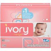 Ivory Snow Powder Laundry Detergent, 40 loads, 1.5KG