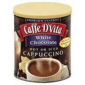 Caffe D'Vita Cappuccino, Instant, White Chocolate, Can