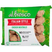al fresco Chicken Meatballs, Italian Style