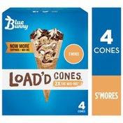 Blue Bunny Load'd Cones S'mores