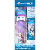 Oral-B Mixed Oral-B and Crest Kids Holiday Pack featuring Disney's Frozen, Kids Fluoride Anticavity Toothpaste and Battery Powered Toothbrush  Power Oral Care