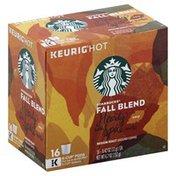 Starbucks Coffee, Ground, Medium Roast, Fall Blend, K-Cup Pods