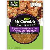 McCormick Gourmet™ Smoked Sausage & Pepper Creole Jambalaya Recipe & Seasoning Mix