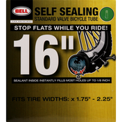 Bell Bicycle Tube, Standard Valve, Self Sealing, 16 Inches