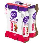 Light + Fit Nonfat Strawberry Protein Smoothie Yogurt Drink