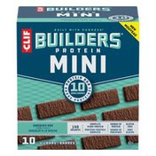 CLIF BAR Protein Bars, Chocolate Mint Flavour, Mini, 10 Pack