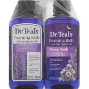 Dr. Teal's Foaming Bath, with Pure Epson Salt, Lavender/Melatonin
