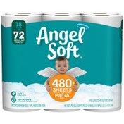 Angel Soft Bathroom Tissue, Unscented, Mega Rolls, 2-Ply