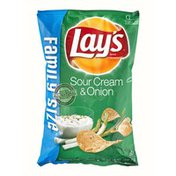 Lay's Family Size Sour Cream & Onion Flavored Potato Chips