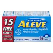 Aleve Naproxen Sodium Tablets 220mg