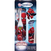 Arm & Hammer Kid's Ultimate Spider-Man Spinbrush Powered Toothbrush and Toothpaste Combo Pack