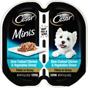 CESAR Dog Food, Chicken & Vegetables Dinner, Minis