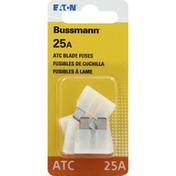 Bussmann Blade Fuses, ATC, 25A