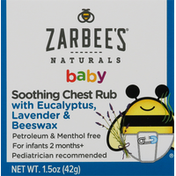 Zarbee's Naturals Soothing Chest Rub, Baby
