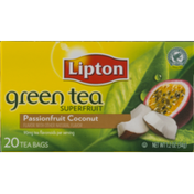 Lipton Green Tea Superfruit Tea Bags Passionfruit Coconut