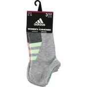 adidas Women's Cushioned Variegated No Show Socks