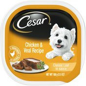 CESAR Chicken & Veal Recipe Classic Loaf in Sauce Canine Cuisine