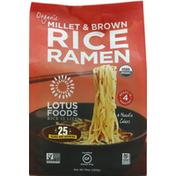 Lotus Foods Rice Ramen, Organic, Millet & Brown