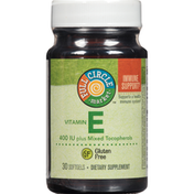 Full Circle Vitamin E 400 Iu Plus Mixed Tocopherols Supports A Healthy Immune System Dietary Supplement Softgels