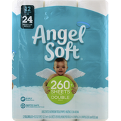 Angel Soft Bathroom Tissue Softness & Strength, Double Rolls
