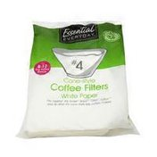 Essential Everyday White Cone Coffee Filters Size 4