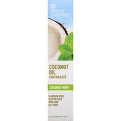 Desert Essence Toothpaste, Coconut Oil, Coconut Mint