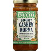 Brooklyn Delhi Indian Simmer Sauce, Coconut Cashew Korma, Mild
