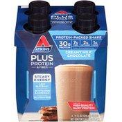 Atkins Plus Protein & Fiber Creamy Milk Chocolate Protein-Packed Shakes