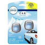 Febreze Car Air Freshener Linen & Sky