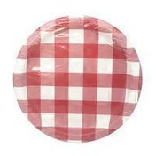 First Street Red Gingham 8.75 Inch Paper Plates