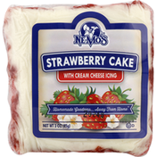Ne Mos Strawberry Cake, with Creamy Cheese Icing