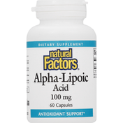 Natural Factors Alpha-Lipoic Acid, 100 mg, Capsules