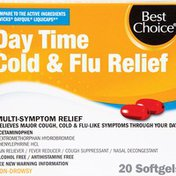 Best Choice Day Time Cold & Flu Relief Liquid PE Gels