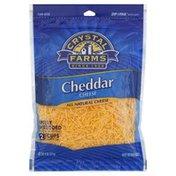 Crystal Farms Finely Shredded Cheese, Cheddar