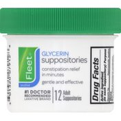 Fleet Glycerin Suppositories, Adult