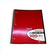 """Top Flight 11"""" X 8.5"""" College Ruled 1 Subject Notebook"""