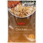 Hy-Vee Chicken Fettuccine Pasta In A Chicken Flavored Sauce