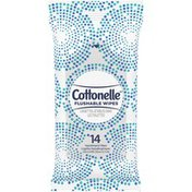 Cottonelle Flushable Wet Wipes Individually Wrapped Pack