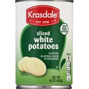 Krasdale White Potatoes, Sliced