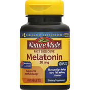 Nature Made Melatonin, Fast Dissolve, 10 mg, Tablets, Mixed Berry