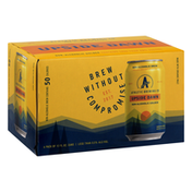 Athletic Brewing Beer, Non-Alcoholic Golden, Upside Dawn, 6 Pack