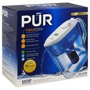 Pur Pitcher, Dual Action Water Filtration System, 11 Cup