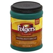 Folgers Coffee, Ground, Hazelnut, Decaf