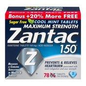 Zantac 150 Acid Reducer Cool Mint Tablets Maximum Strength - 78 CT