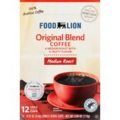 Food Lion Coffee, Medium Roast, Original Blend, Single Serve Cups